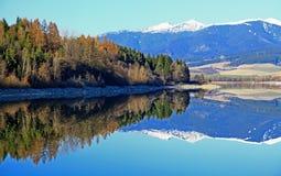 Liptovska Mara - bevattna handfatet i regionen Liptov Fotografering för Bildbyråer