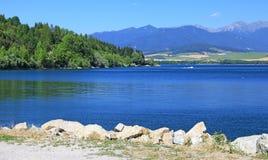 Liptovska Mara - innaffi il bacino nella regione Liptov Fotografie Stock Libere da Diritti