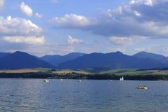 Liptovska Mara Lake, Slovakia landscape, High Tatra Mountains stock photo