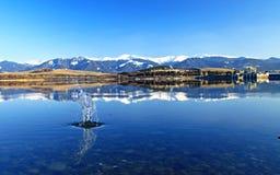 Liptovska Mara - molhe a bacia na região Liptov Imagem de Stock Royalty Free