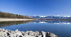 Liptovska Mara - water basin in region Liptov Royalty Free Stock Photography