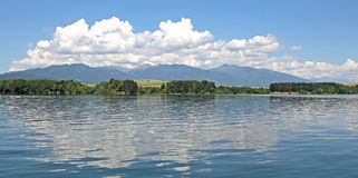 Liptovska Mara - water basin in region Liptov Royalty Free Stock Photo