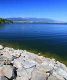 Liptovska Mara - water basin in region Liptov Royalty Free Stock Images