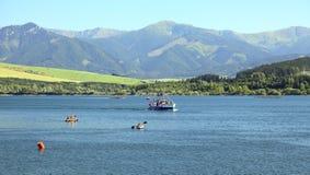 Liptovska Mara - water basin in region Liptov Royalty Free Stock Image