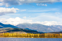 Liptovska Mara with Western Tatras Royalty Free Stock Photography