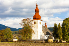 Liptovske Matiasovce, Slovakia. Fortified church in Liptovske Matiasovce, Slovakia Royalty Free Stock Photos
