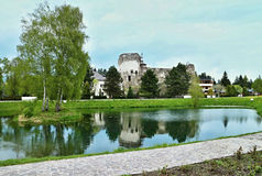 Liptovsky Hradok - hotel Grand Castle, Slovakia. The look at hotel Grand Castle in Liptovsky Hradok Stock Photos
