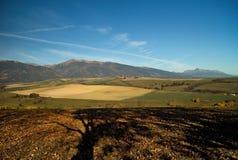 Liptovsky Mikulas, Haj - Nicovo, Slovakia. View at the hills Baranec and Krivan from Haj - Nicovo Royalty Free Stock Images