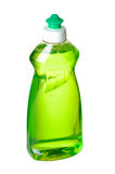 Liqid soap bottle. Liquid green soap bottle on white background with path Royalty Free Stock Images