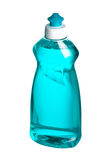 Liqid soap bottle. Liqid blue soap bottle on white background with path Stock Image