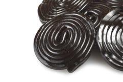 Liqorice wheels candies Stock Photos