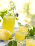 Liqour de citron (limoncello) Photographie stock
