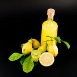 Liqour del limón (limoncello) Fotos de archivo libres de regalías