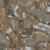 Liquefaccia la priorità bassa astratta del metallo illustrazione vettoriale