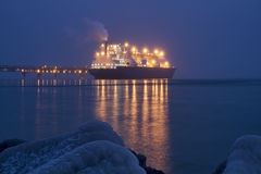 A liquefied gas carrier stock photo