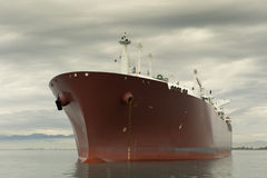 Liquefied gas carrier ship Stock Photo