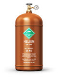 Liquefied helium industrial gas container Royalty Free Stock Images
