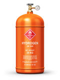 Liquefied hydrogen industrial gas container Royalty Free Stock Photos