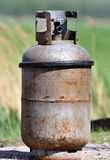 Liquefied petroleum gas cylinder. A old liquefied petroleum gas cylinder royalty free stock images