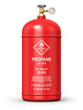 Liquefied propane industrial gas container Stock Photos