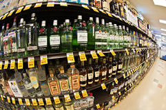 Liquer shelf Royalty Free Stock Photography