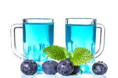 Liqueur of blueberries Stock Photo