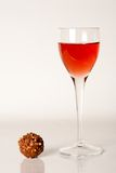 Liqueur and chocolate Stock Image