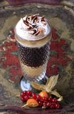 Liqueur coffee with whipped cream Stock Photography