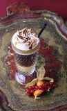 Liqueur coffee with whipped cream Royalty Free Stock Image