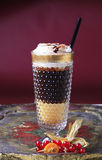 Liqueur coffee with whipped cream Royalty Free Stock Photo