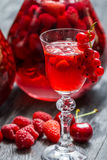 Liqueur made of wild berries Stock Photography