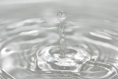 Liquid. Images of drops of water falling and splashing Stock Photo