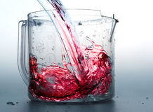 Liquid. Red liquid royalty free stock photography