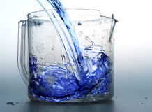 Liquid. Blue liquid royalty free stock photos