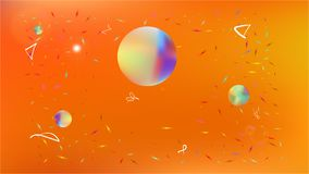 Liquid abstract space background picture colorful. stock illustration