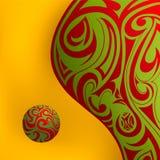 Liquid art. Liquid forms wih tribal art design on it Stock Photography