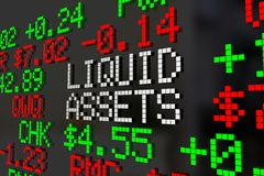 Liquid Assets Stock Market Investment Account. 3d Illustration Royalty Free Stock Images