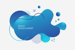 Liquid background vector. Vector liquid shape design element. Liquid form for design of book, flier, presentation slide, banner style. Blue abstract shape vector illustration