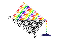 Liquid bar code Stock Images