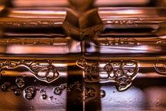 Liquid beer bubbles. Macro in the studio Stock Photos