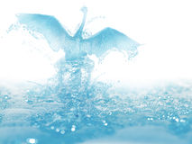 Liquid bird. Artwork of liquid bird born and fly from water Royalty Free Stock Photography