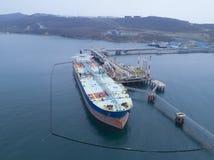 Liquid bulk oil tanker Stock Photos