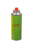 Liquid butane gas can. Isolated on white stock photo