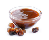 Liquid caramel and caramelized sugar Royalty Free Stock Photos