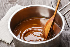 Liquid caramel Stock Image