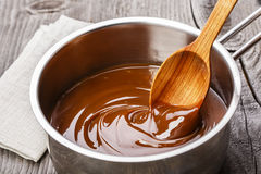 Liquid caramel Stock Photography