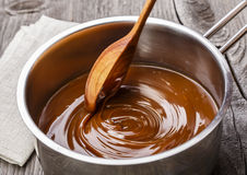 Liquid caramel Royalty Free Stock Photography