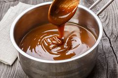 Liquid caramel Stock Photo