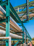 Liquid and chemical pipe line transfer Royalty Free Stock Photos