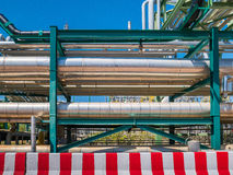 Liquid and chemical pipe line transfer Royalty Free Stock Image